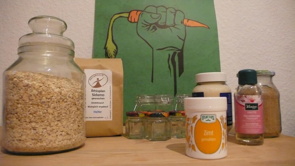veganes bio peeling selbst gemacht mit zutaten aus der k che. Black Bedroom Furniture Sets. Home Design Ideas